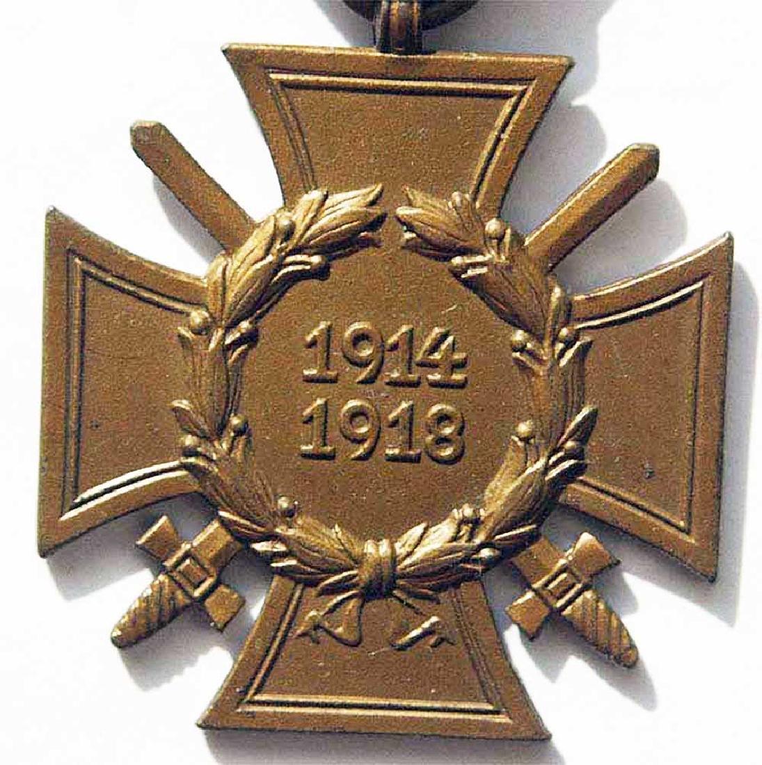 German WW1 WAR MEDAL w. SWORDS, ASSMANN - 3