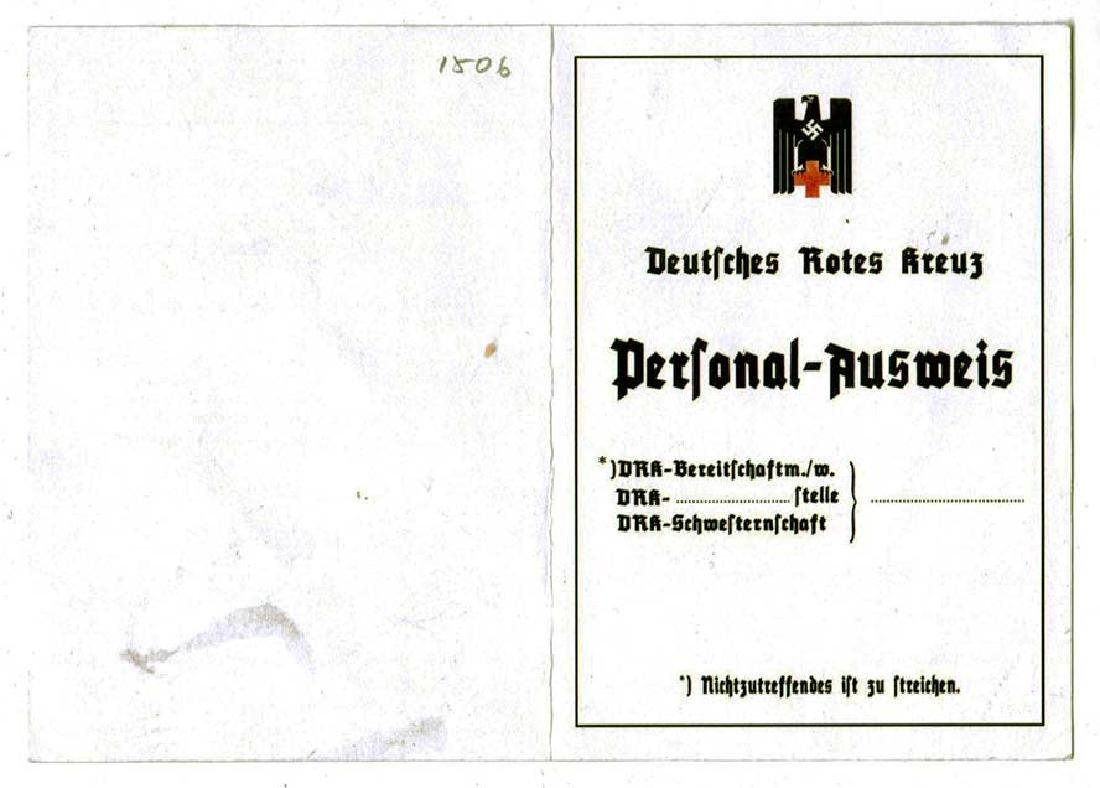 German WW2 Red Cross ID Blank, Rotes Kreus