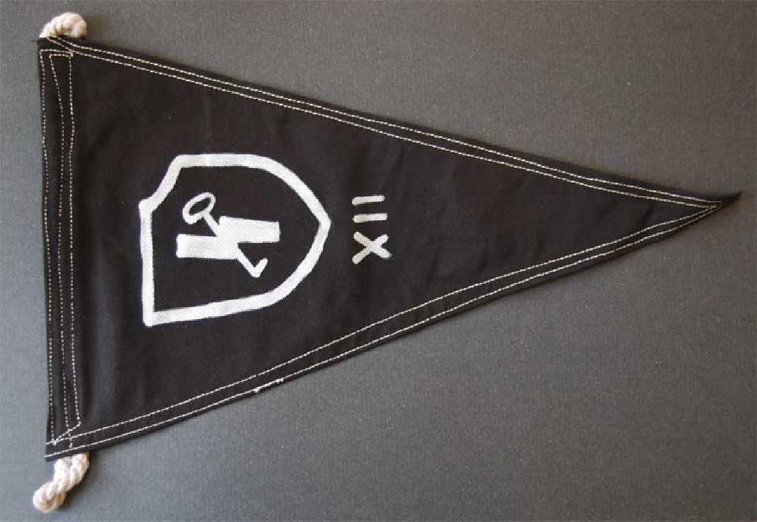 Rare German WW2 12 SS Hitler YouthPennant, Flag