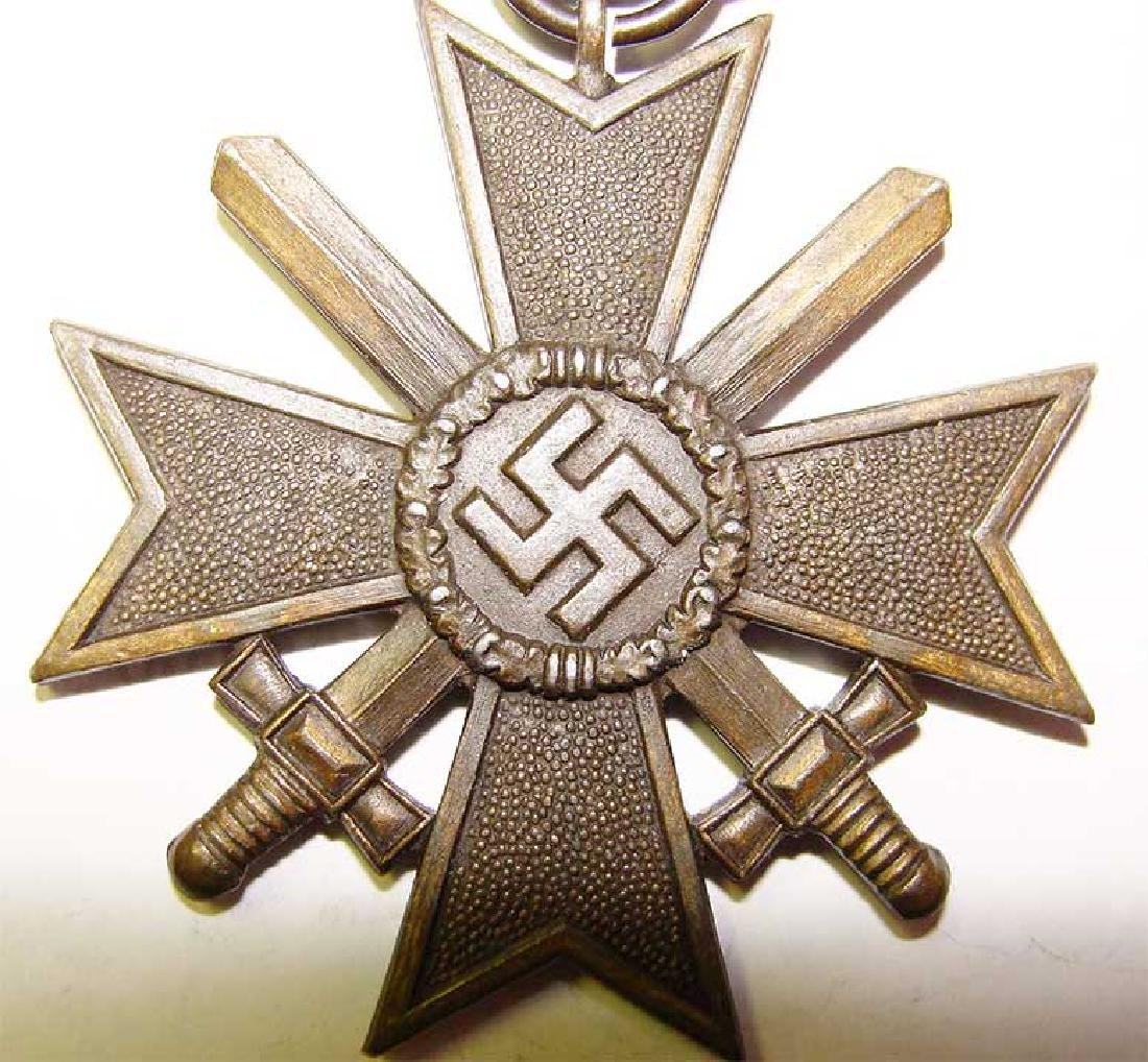 German WW2 Award Document for Kriegsverdienstkreuz, - 4