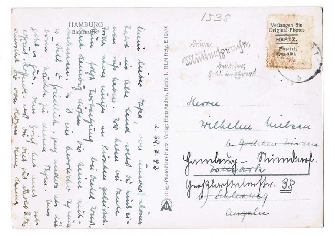 German WW2 Postcard belonged to Commander U-370 - 4
