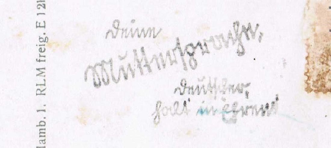 German WW2 Postcard belonged to Commander U-370 - 5