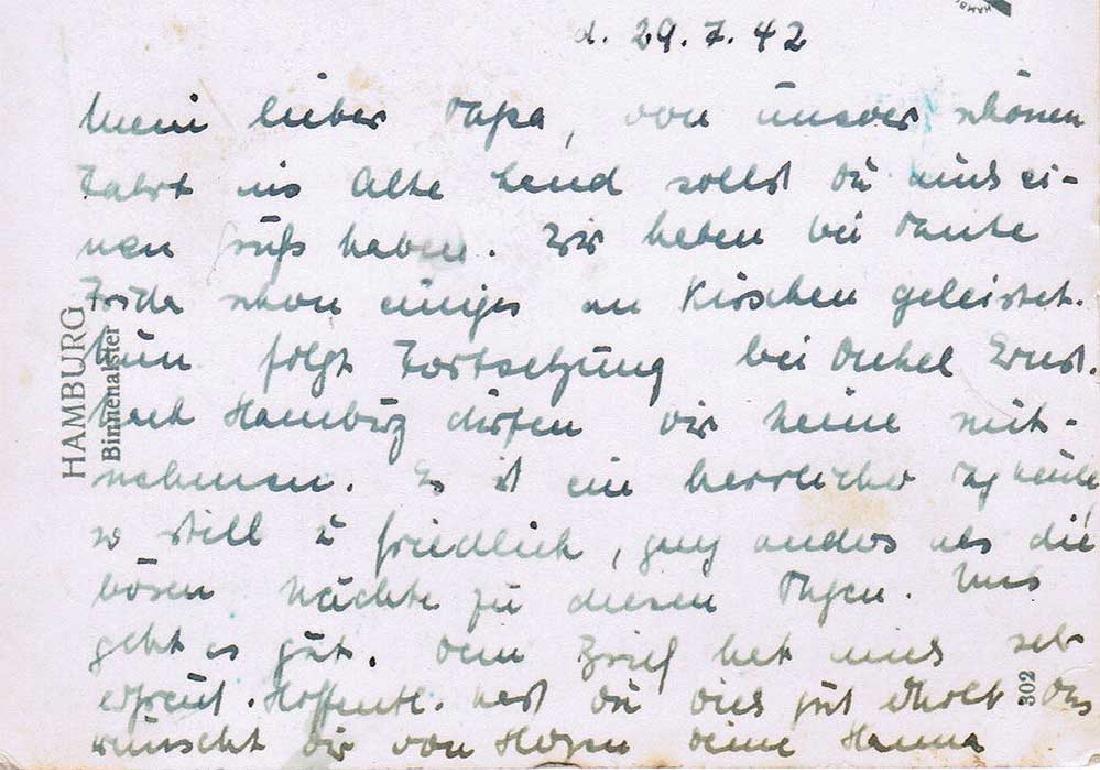 German WW2 Postcard belonged to Commander U-370 - 7