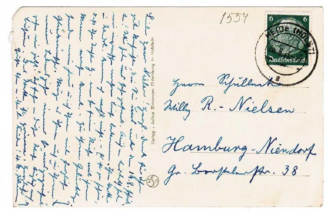 German WW2 Postcard, U-370 Oberleutnant Karl Nielsen - 2