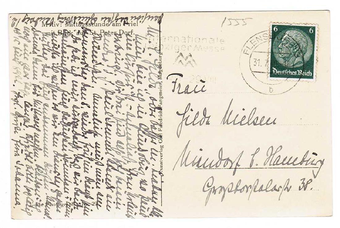 German WW2 Postcard, U-370 Oberleutnant Karl Nielsen