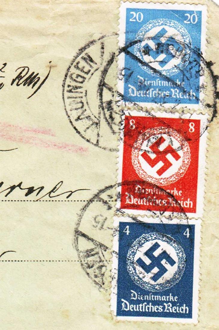 German WW2 Cover Letter, U-370 Oberleutnant Karl