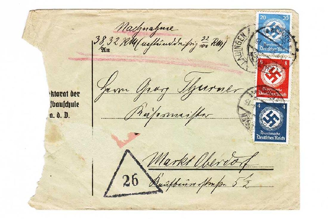 German WW2 Cover Letter, U-370 Oberleutnant Karl - 2