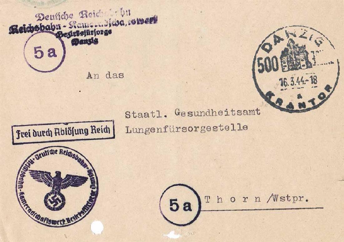 German WW2 Document, Tuberculosis Care, 1944 - 7