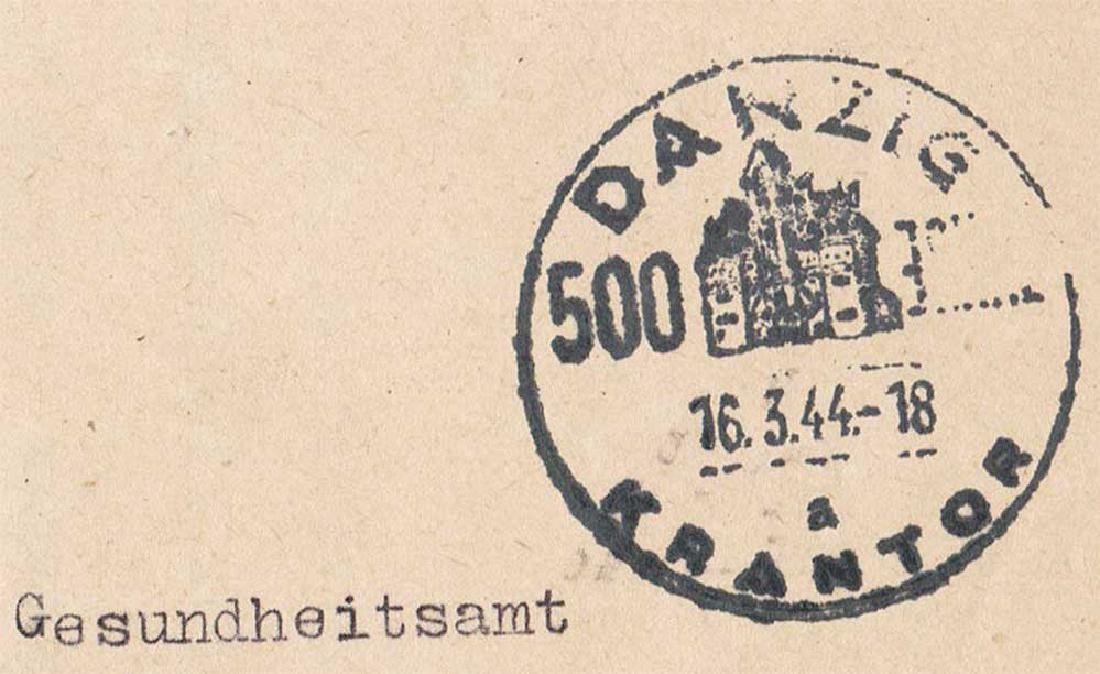 German WW2 Document, Tuberculosis Care, 1944 - 9