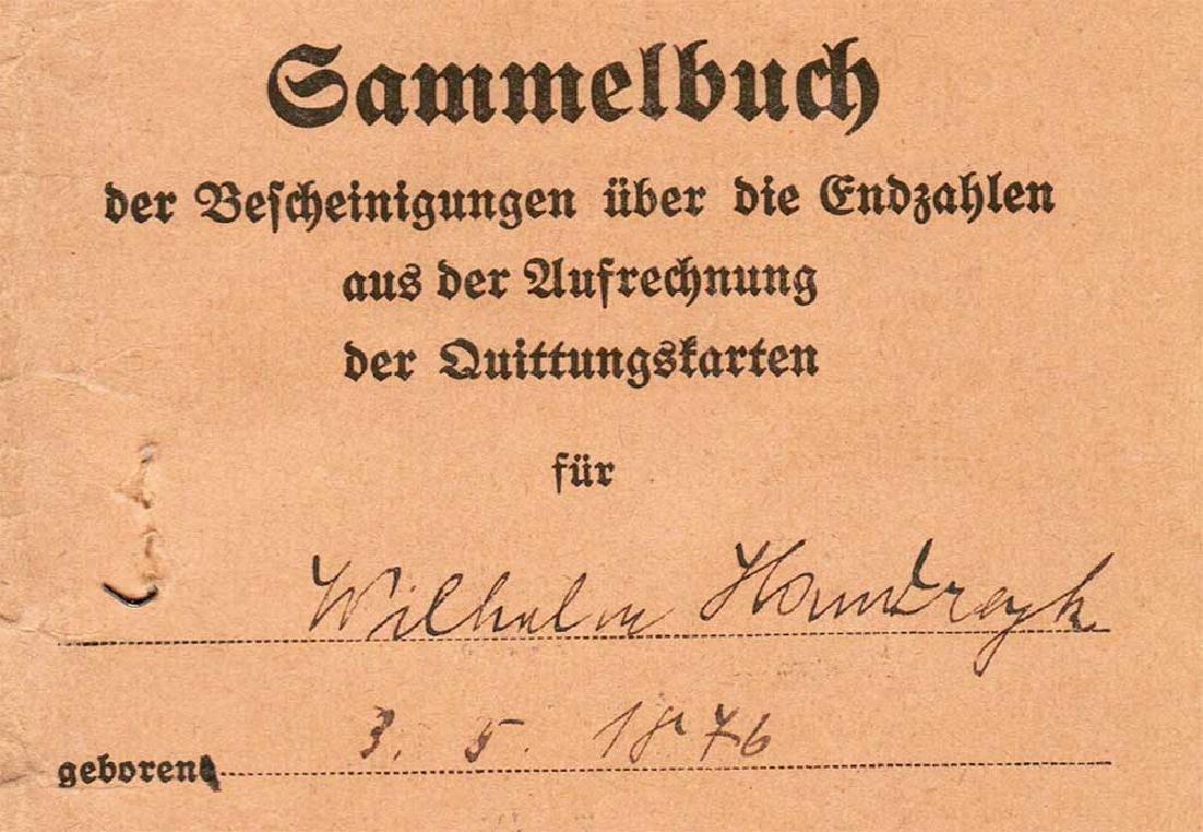 German WW2 Document Sammelbuch, 1939-1940