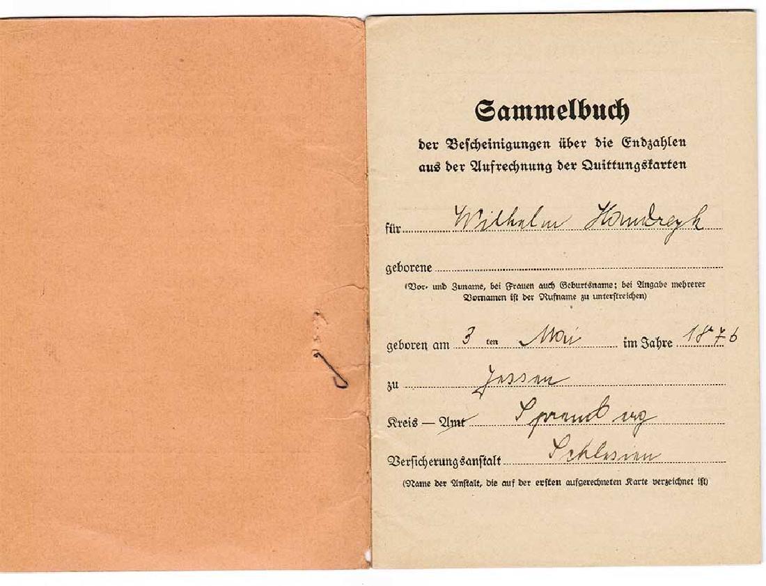 German WW2 Document Sammelbuch, 1939-1940 - 4