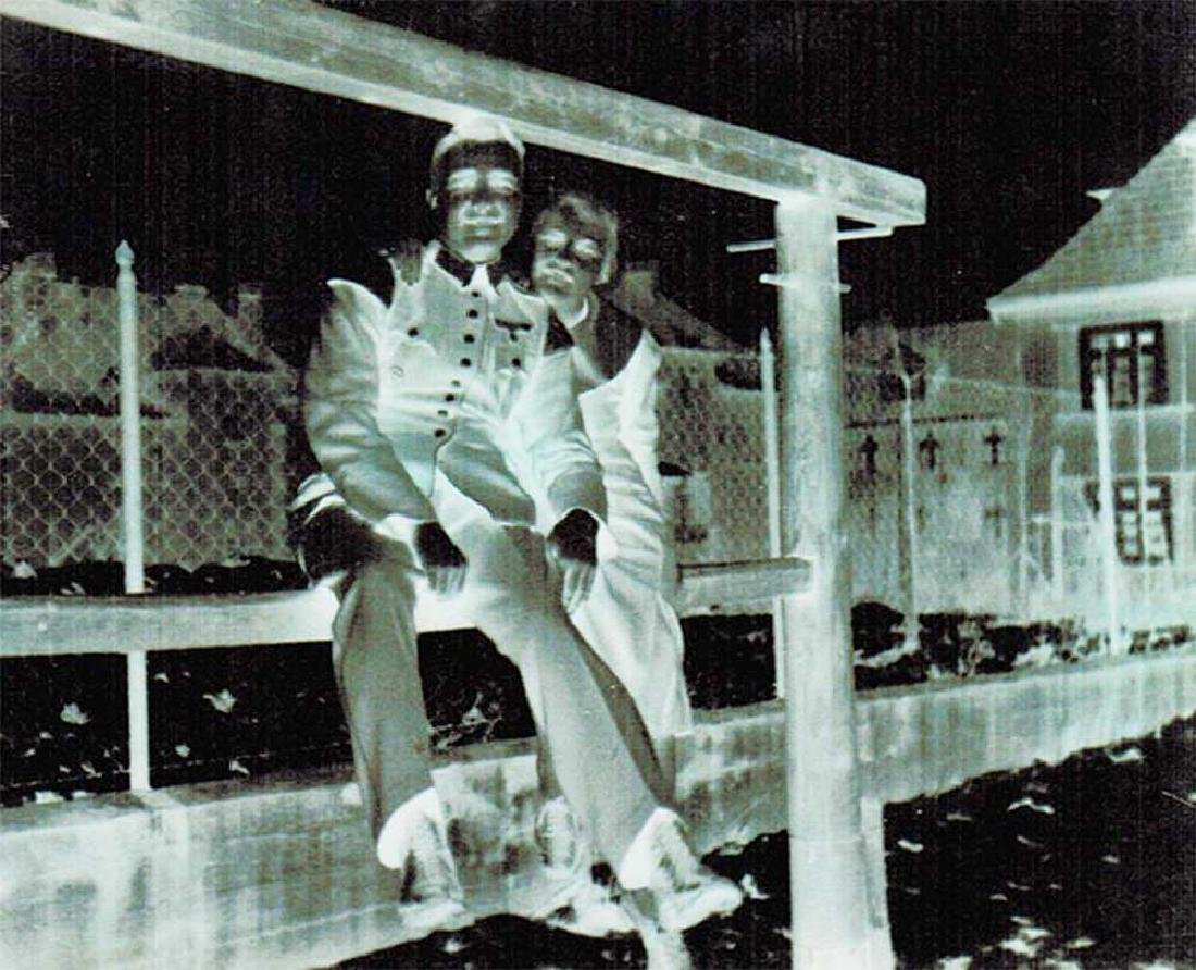 German WW2 Photo Negative of German Soldier