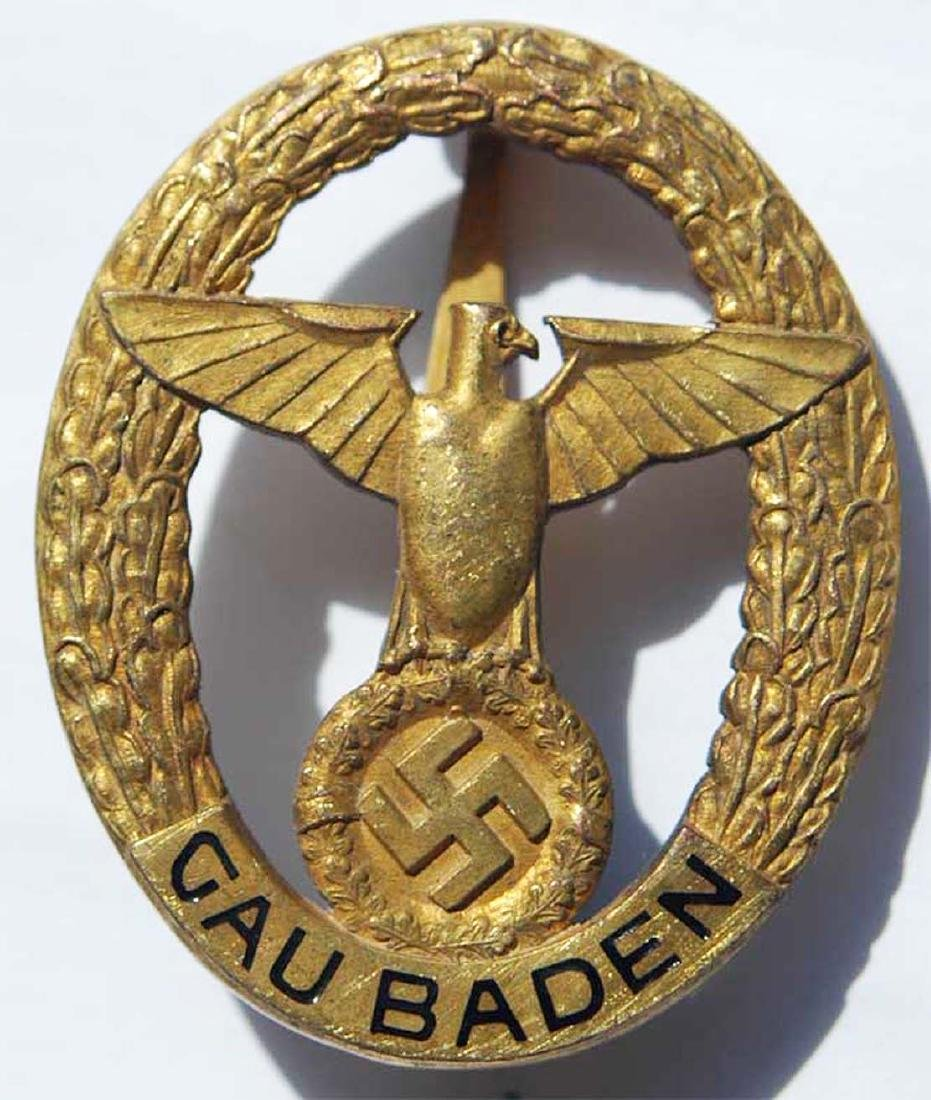 German WW2 Tradition Clasp State of Baden, GOLD