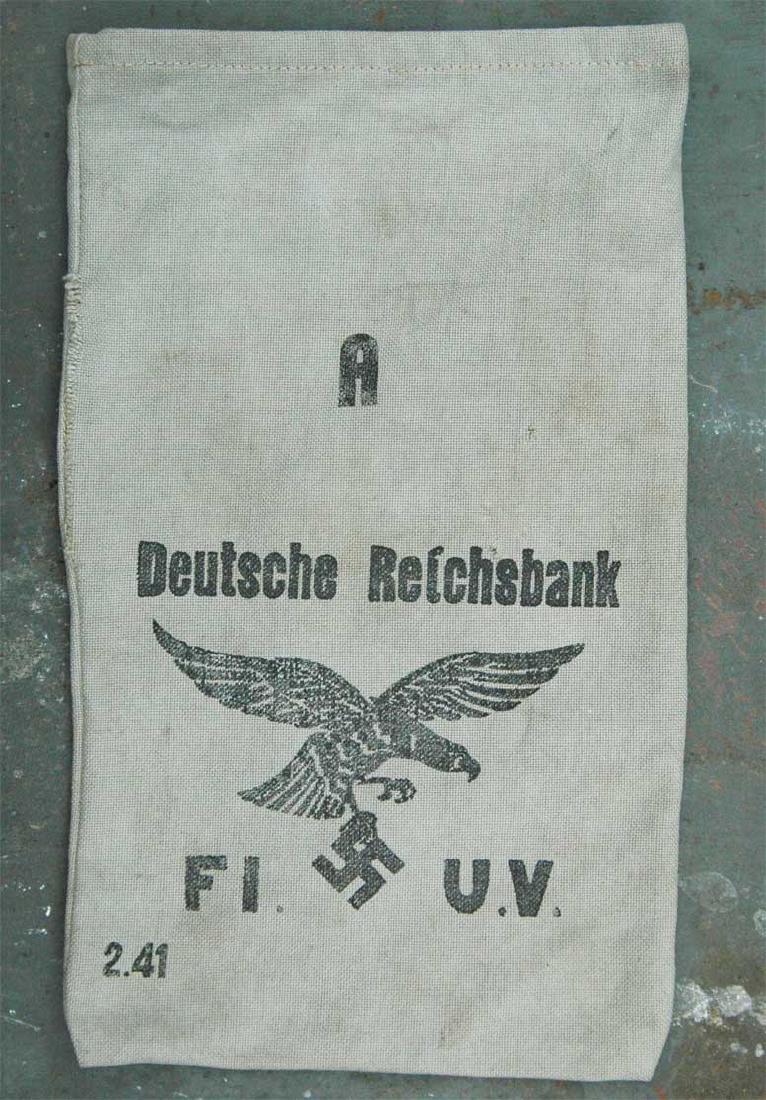 German WW2 Deutche Reichsbank Bag w. Eagle