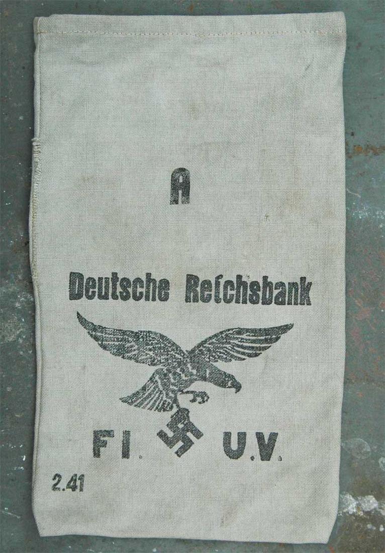 German WW2 Deutche Reichsbank Bag w. Eagle - 2