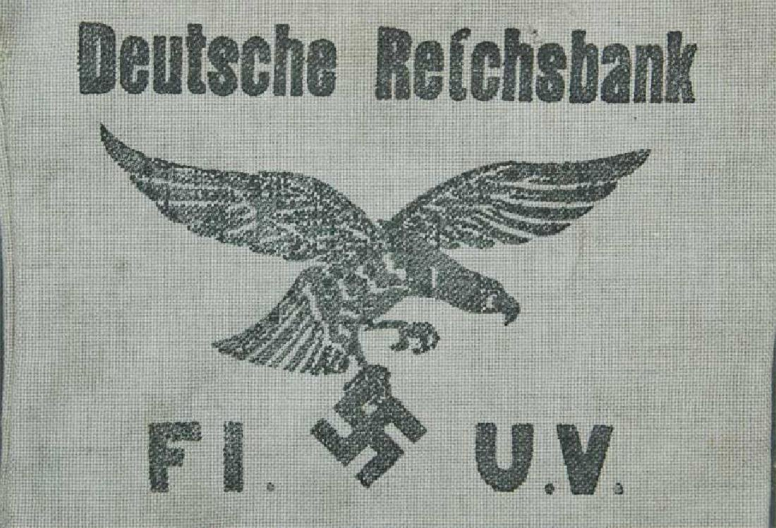 German WW2 Deutche Reichsbank Bag w. Eagle - 3