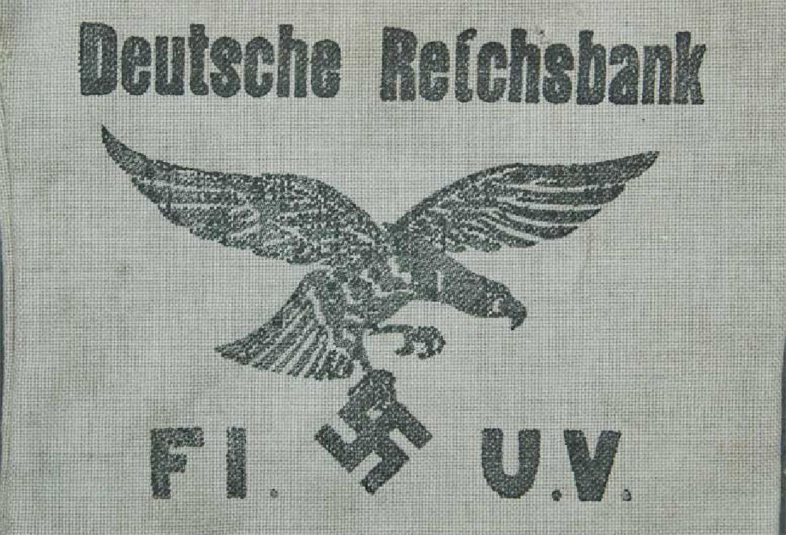 German WW2 Deutche Reichsbank Bag w. Eagle - 3