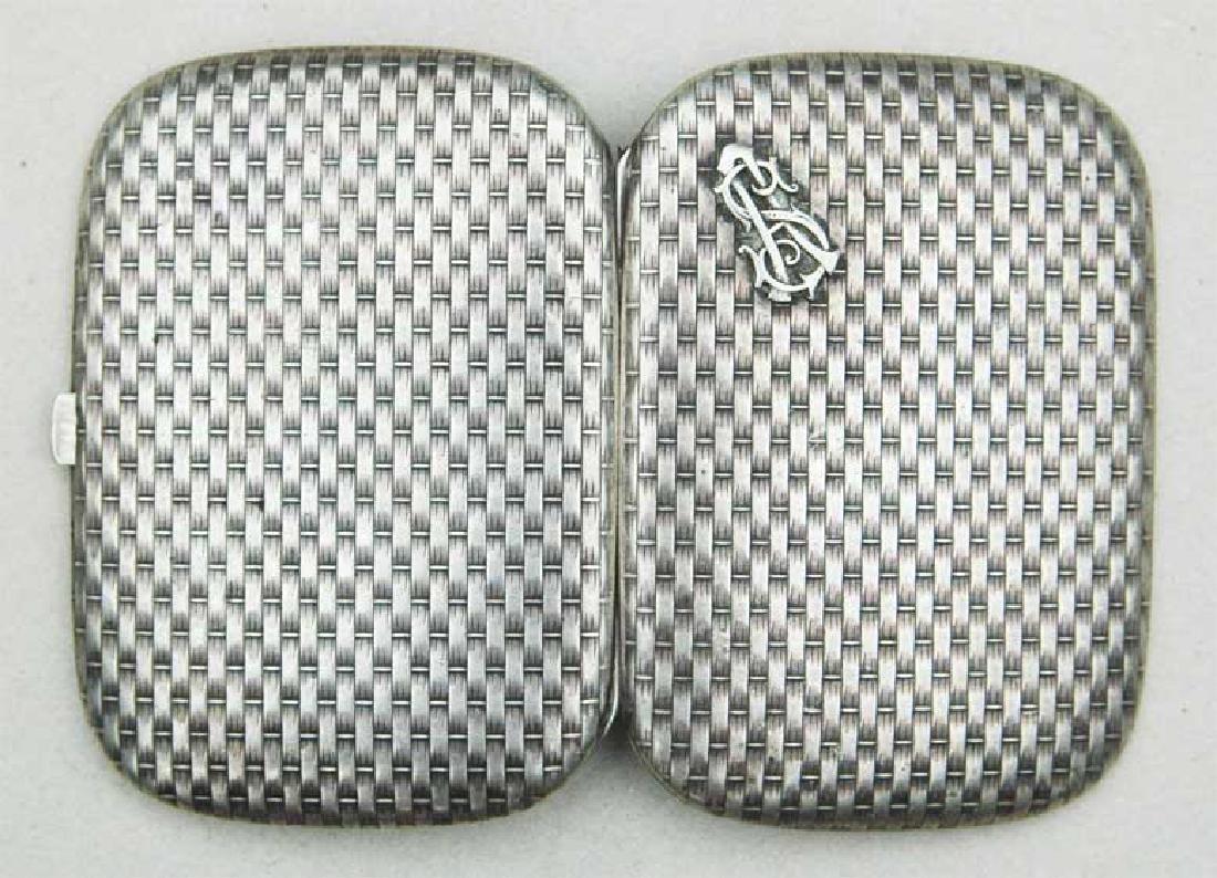 German WW2 Silver Cigarette Case, FABERGE style - 10