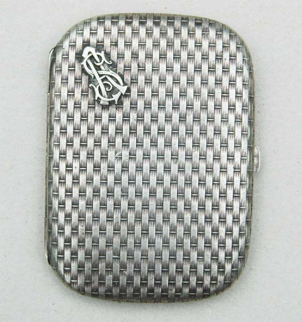 German WW2 Silver Cigarette Case, FABERGE style