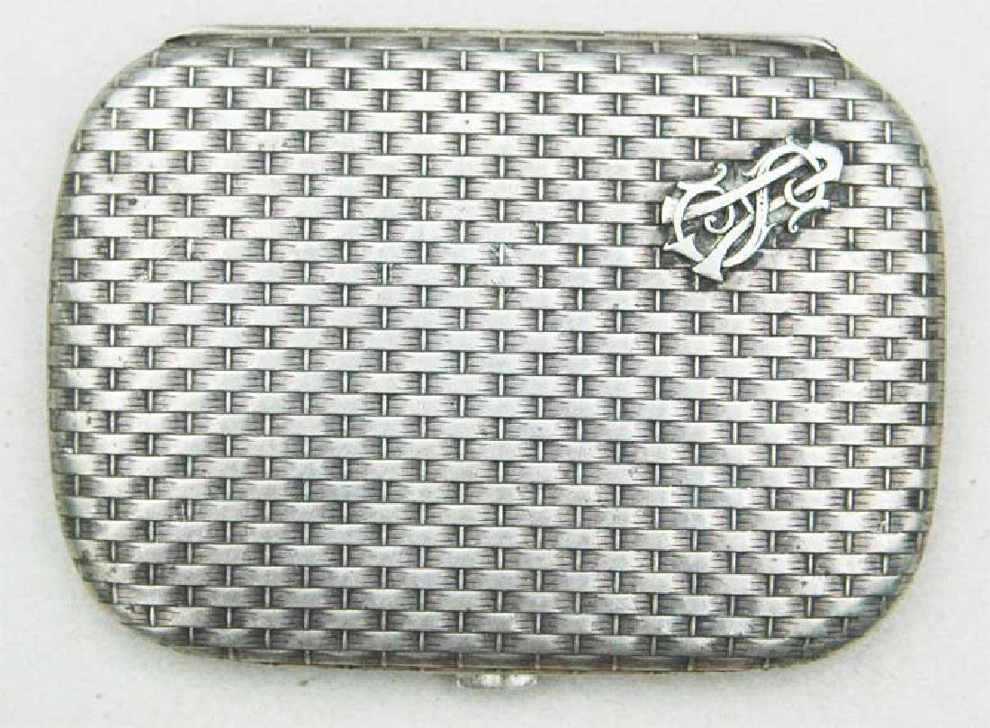 German WW2 Silver Cigarette Case, FABERGE style - 3