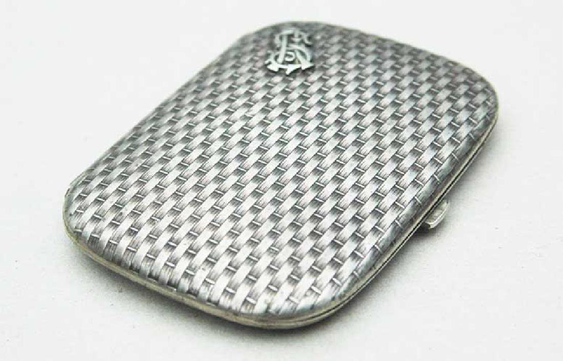 German WW2 Silver Cigarette Case, FABERGE style - 4