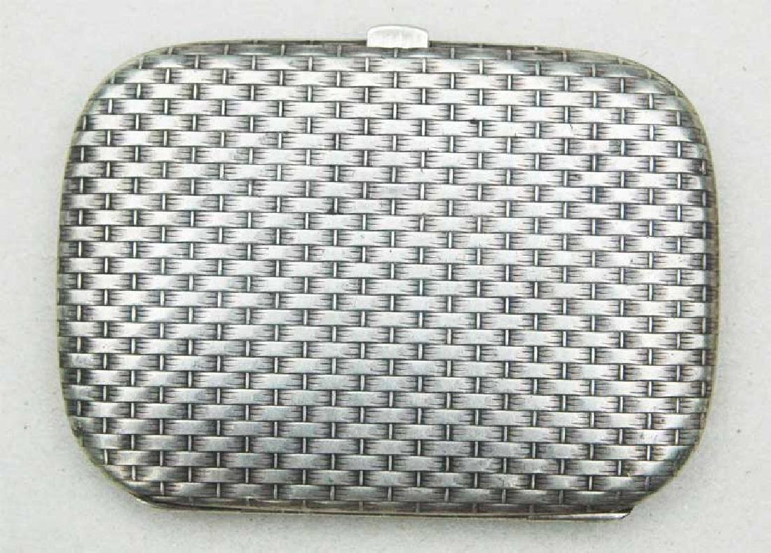 German WW2 Silver Cigarette Case, FABERGE style - 8