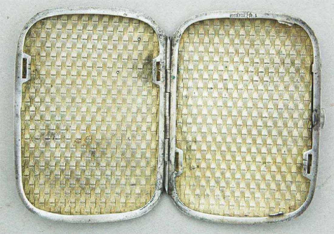 German WW2 Silver Cigarette Case, FABERGE style - 9