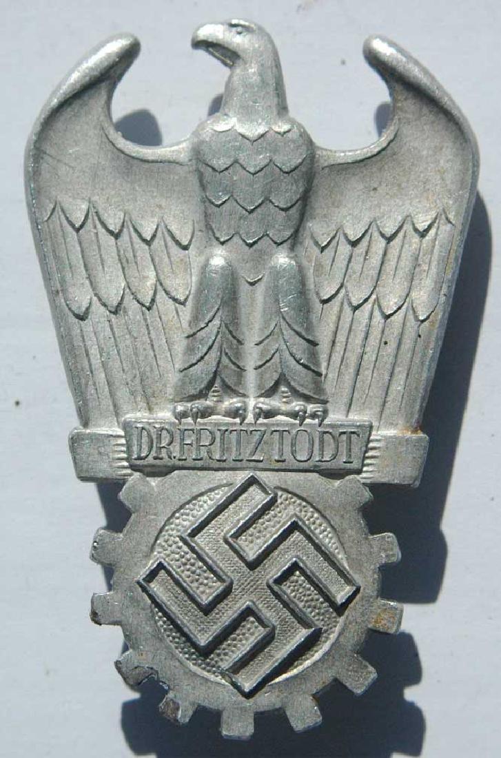German WW2 ORGANISATION TODT Badge, 1938