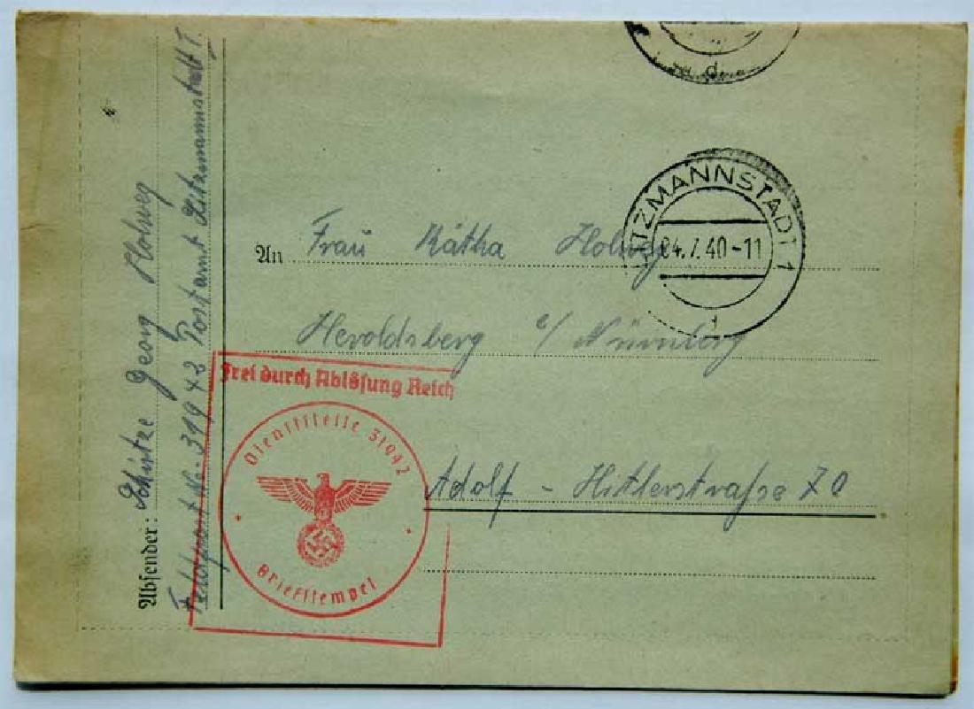 Original Jewish WW2 Letter fr. Litzmannstadt, 1940