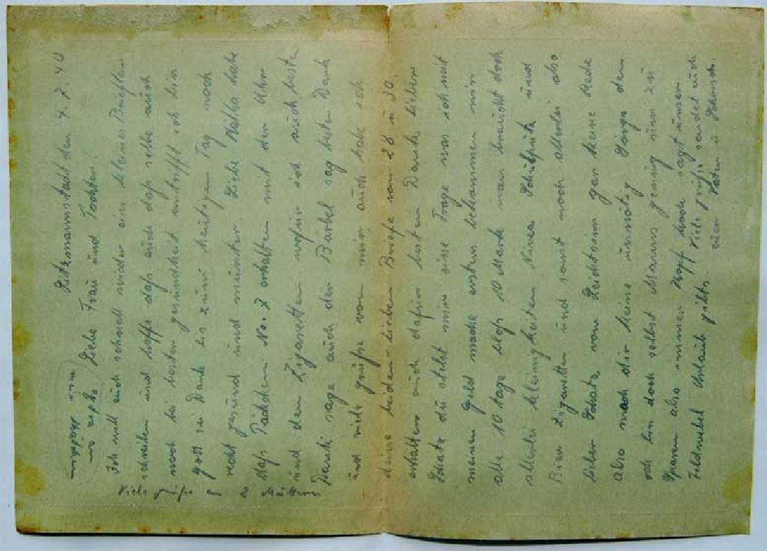 Original Jewish WW2 Letter fr. Litzmannstadt, 1940 - 3