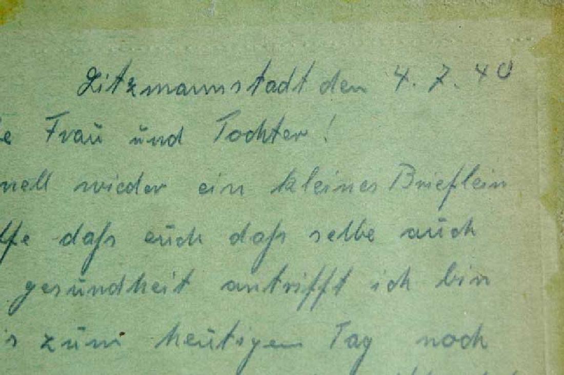 Original Jewish WW2 Letter fr. Litzmannstadt, 1940 - 4