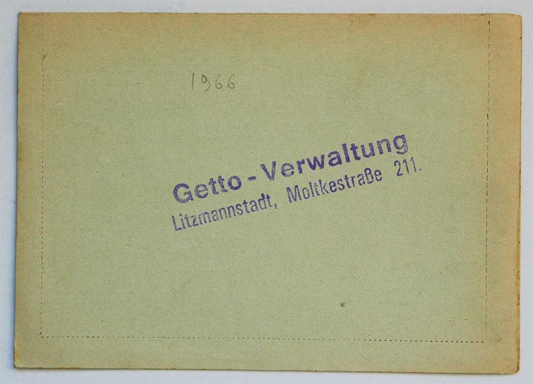 Original Jewish WW2 Letter fr. Litzmannstadt, 1940 - 5