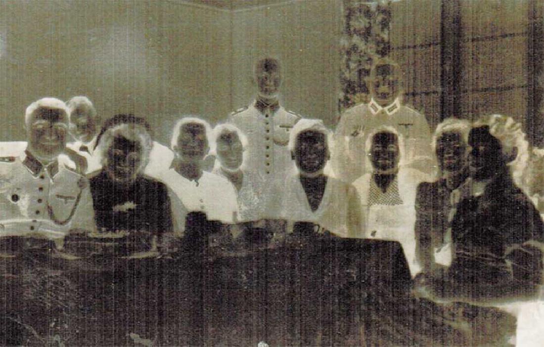 German WW2 Photo Negative of German Soldiers
