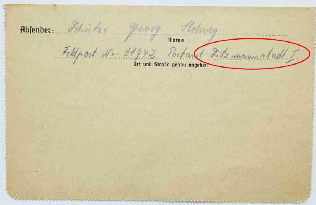 WW2 Letter, Jewish Ghetto in LITZMANNSTADT, 1940 - 3