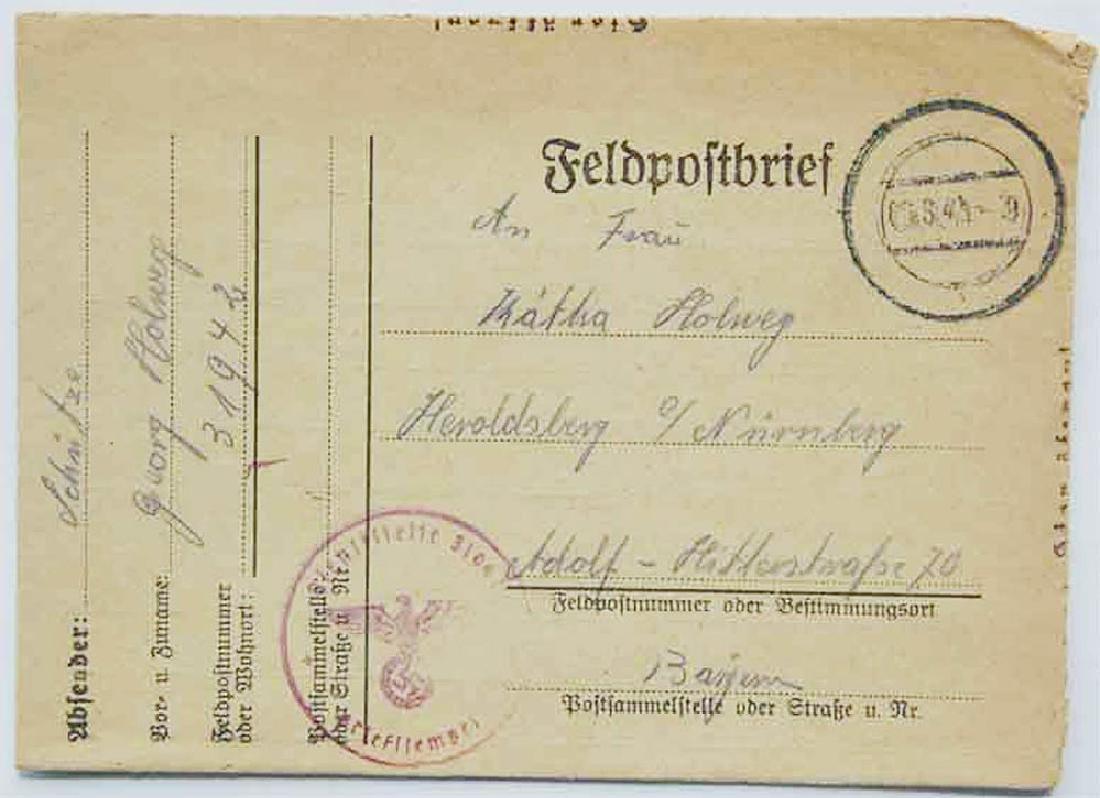 WW2 Letter fr. GHETTO in LITZMANNSTADT, 1941 - 2