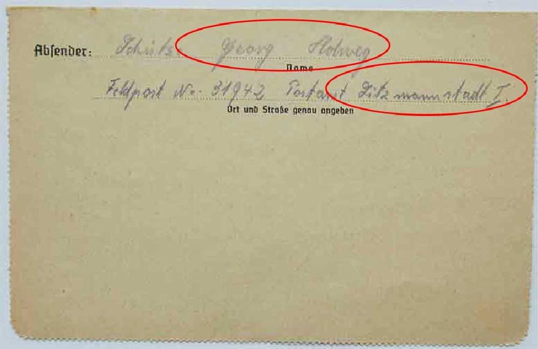 WW2 Letter fr. GHETTO in LITZMANNSTADT, 1941 - 6