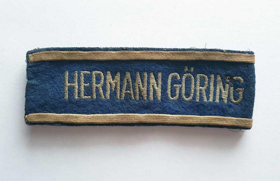 German WW2 HERMANN GORING EMS CUFF TITLE