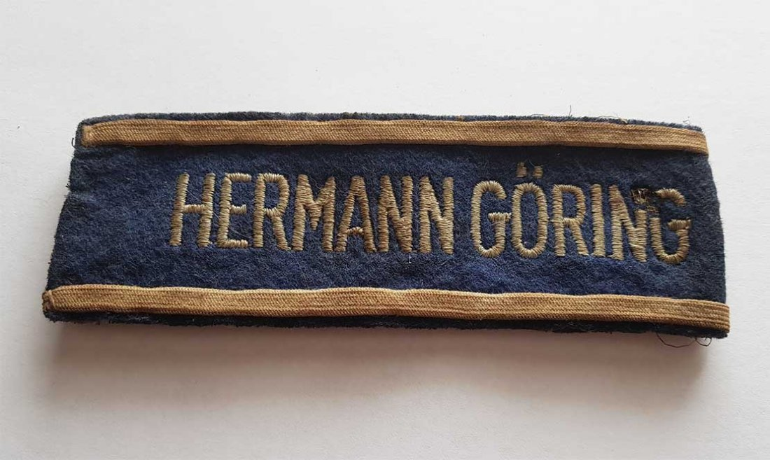 German WW2 HERMANN GORING EMS CUFF TITLE - 2