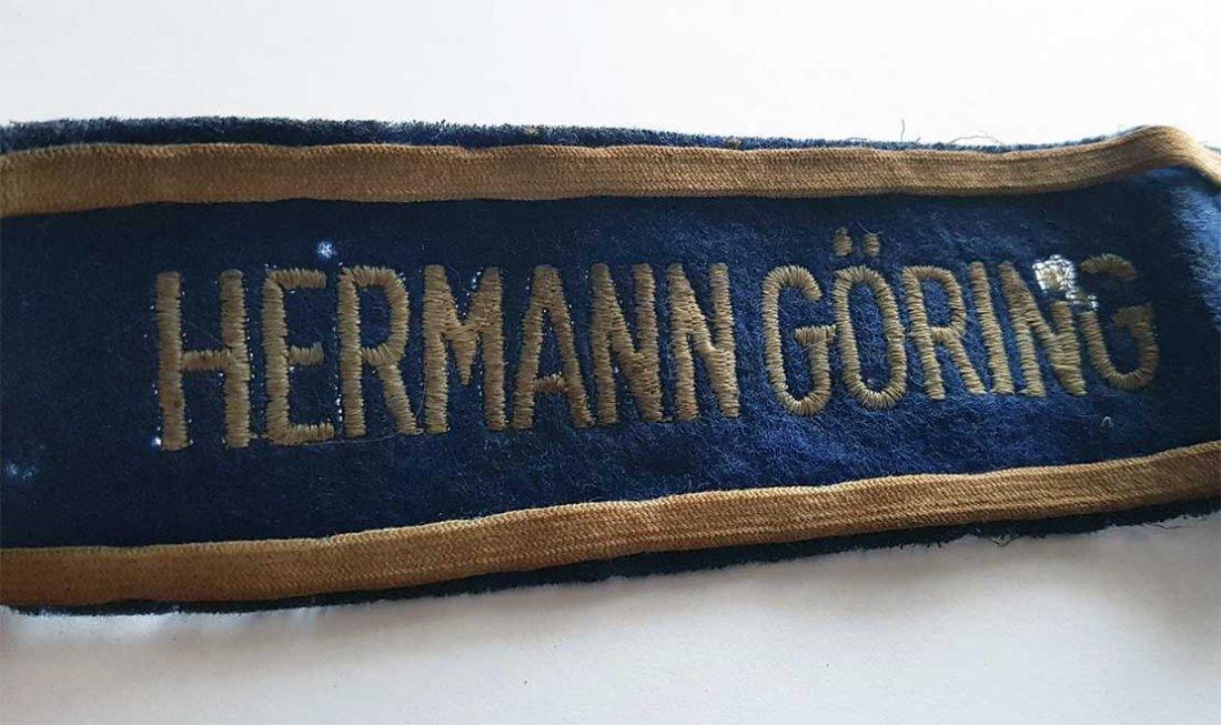 German WW2 HERMANN GORING EMS CUFF TITLE - 3
