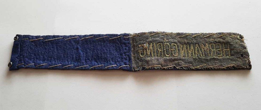 German WW2 HERMANN GORING EMS CUFF TITLE - 6
