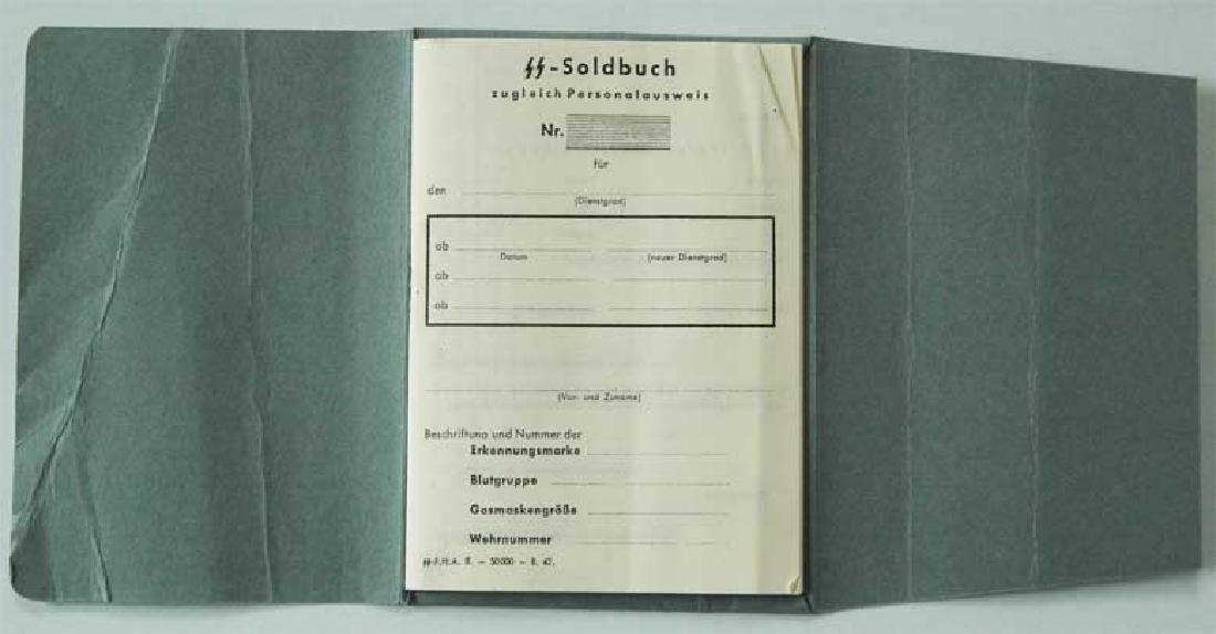 German WW2 Waffen SOLDBUCH, empty - 4