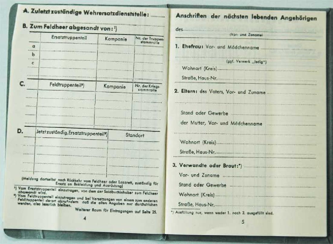 German WW2 Waffen SOLDBUCH, empty - 6