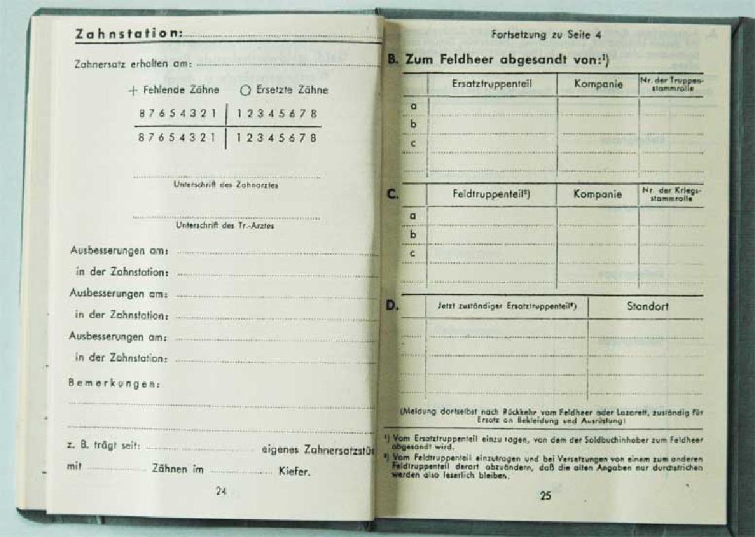 German WW2 Waffen SOLDBUCH, empty - 8
