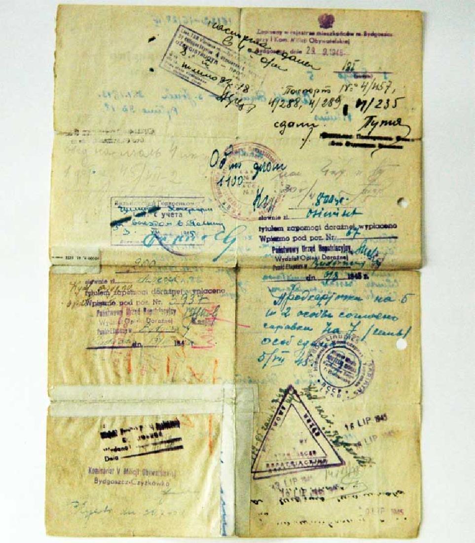Extremely Rare Polish WW2 Document Evacuation, 1945 - 4