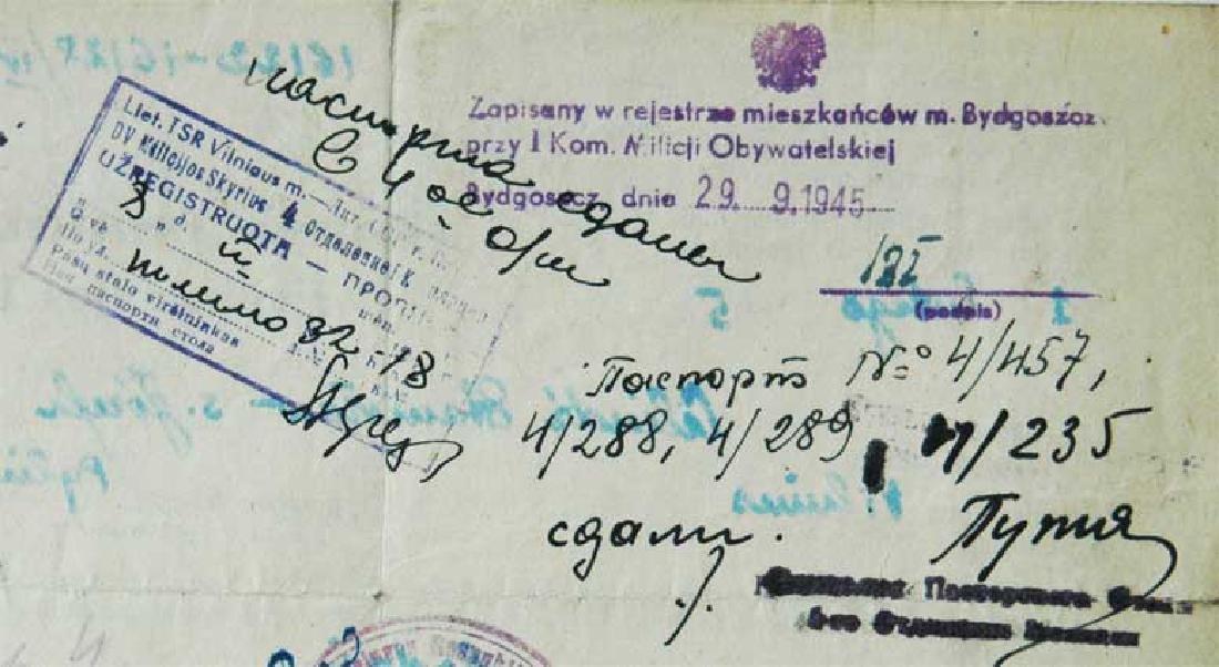Extremely Rare Polish WW2 Document Evacuation, 1945 - 5
