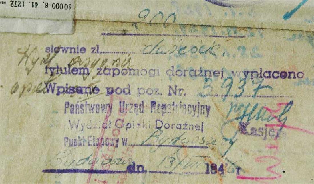 Extremely Rare Polish WW2 Document Evacuation, 1945 - 6