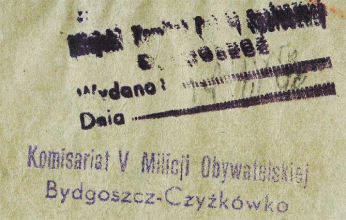 Extremely Rare Polish WW2 Document Evacuation, 1945 - 8