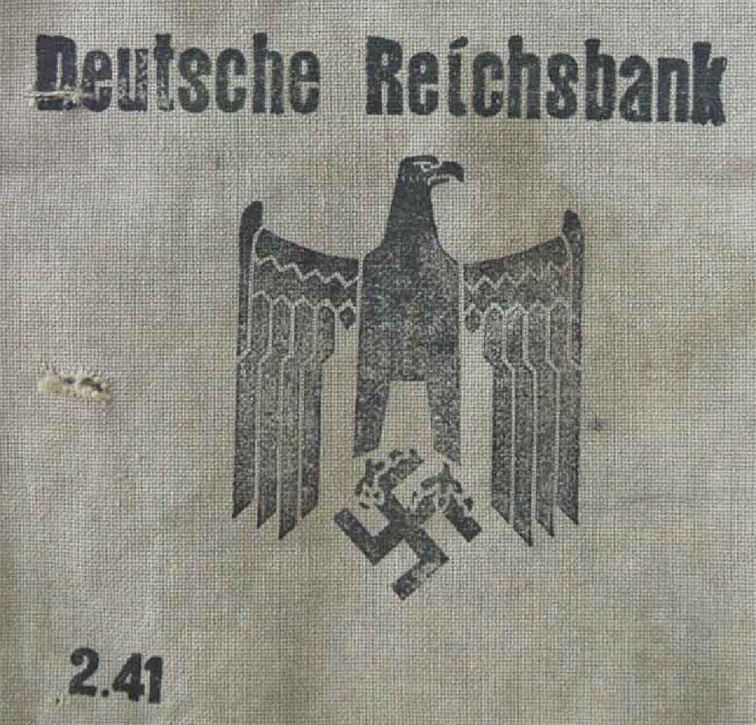 German WW2 Deutche Reichsbank Bag, BUCHENWALD - 2