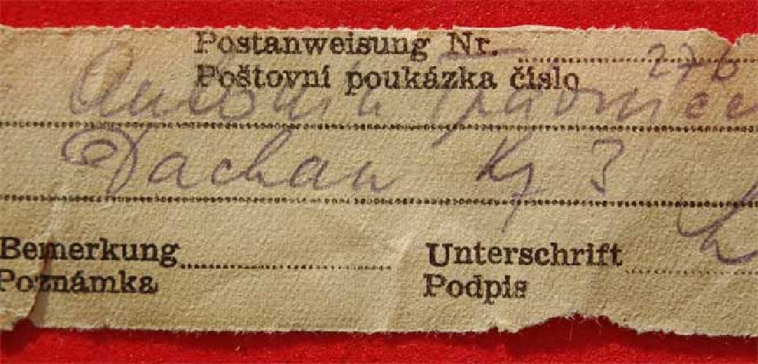 Jewish WW2 Receipt fr. DACHAU Concentration Camp, 1941 - 3