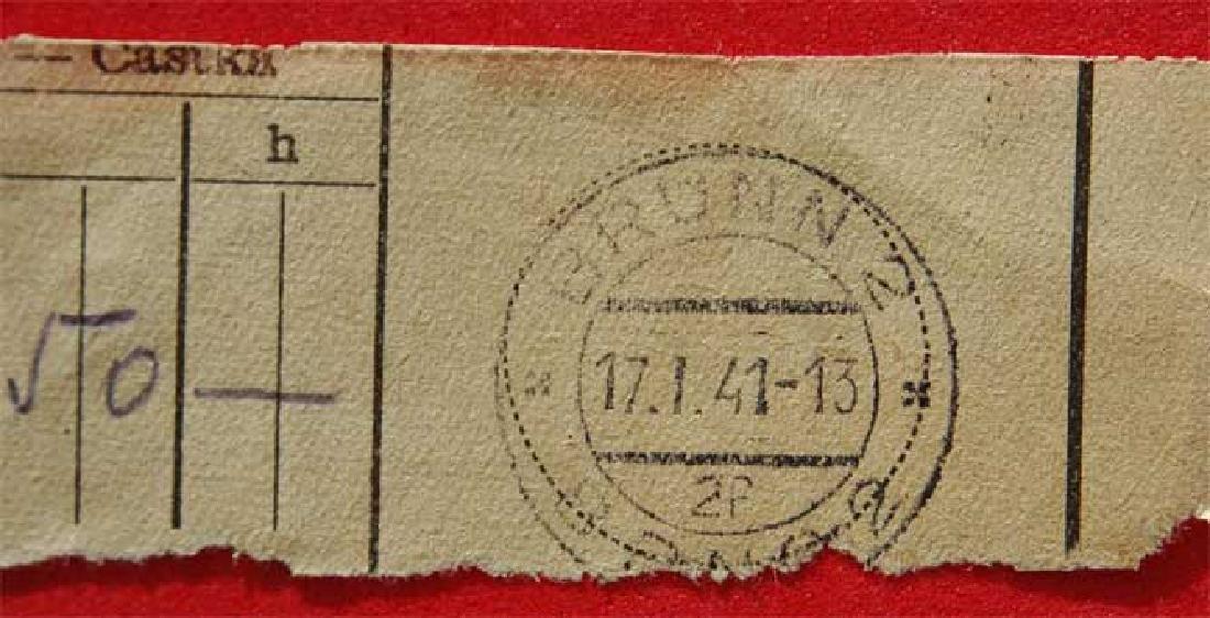 Jewish WW2 Receipt fr. DACHAU Concentration Camp, 1941 - 4